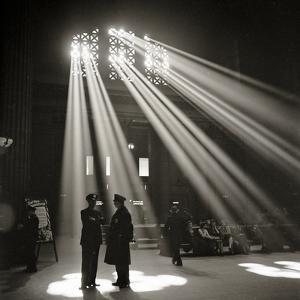 Police in Waiting Room of the Union Station, Chicago