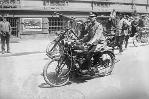 Police Mobile Motorcycle Machine Gun