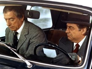 POLICE PYTHON, 1976 directed by ALAIN CORNEAU Yves Montand and Francois Perier (photo)