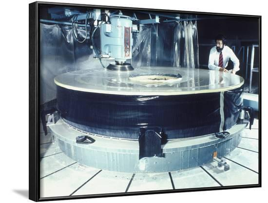 Polishing the Mirror of the Hubble Telescope, 1980S--Framed Photographic Print