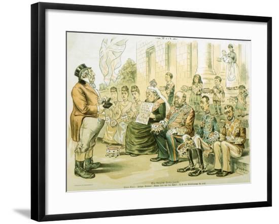 Political Cartoon of Queen Victoria Panhandling--Framed Giclee Print