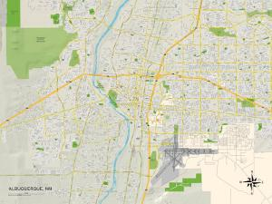 Political Map of Albuquerque, NM
