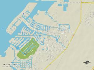 Political Map of Apollo Beach, FL