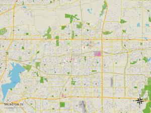 Political Map of Arlington, TX