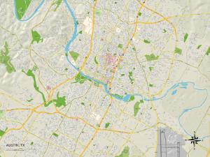 Political Map of Austin, TX