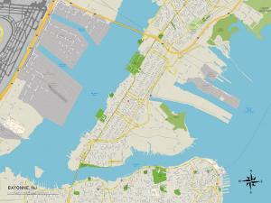 Political Map of Bayonne, NJ