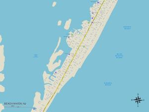 Political Map of Beach Haven, NJ