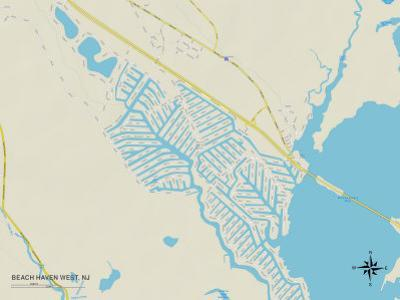 Political Map of Beach Haven West, NJ