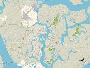 Political Map of Beaufort, SC