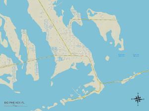 Political Map of Big Pine Key, FL