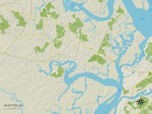 Political Map of Bluffton, SC