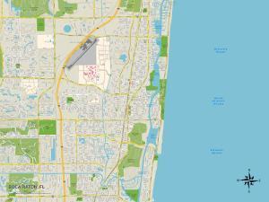 Political Map of Boca Raton, FL