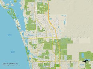 Political Map of Bonita Springs, FL