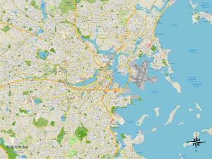 Political Map of Boston, MA