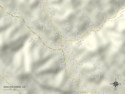 Political Map of Boulder Creek, CA