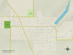Political Map of Campbellsport, WI