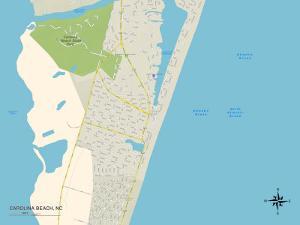 Political Map of Carolina Beach, NC
