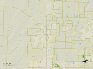 Political Map of Celina, TX