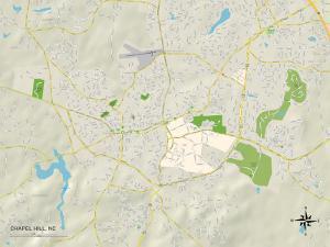 Political Map of Chapel Hill, NC