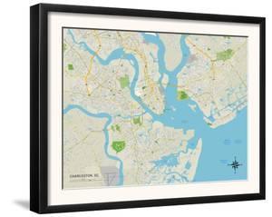 Political Map of Charleston, SC