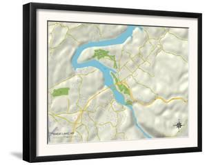 Political Map of Cheat Lake, WV