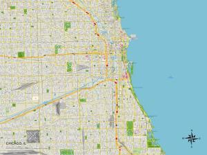 Political Map of Chicago, IL
