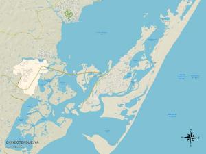 Political Map of Chincoteague, VA