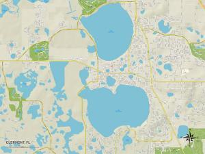 Political Map of Clermont, FL