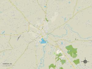 Political Map of Conway, SC