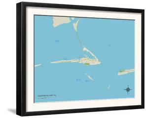 Political Map of Dauphin Island, AL