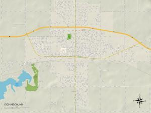 Political Map of Dickinson, ND