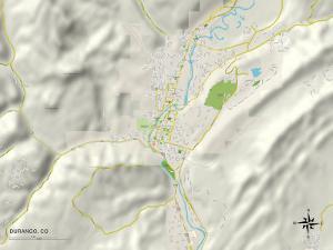 Political Map of Durango, CO