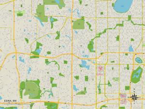 Political Map of Edina, MN