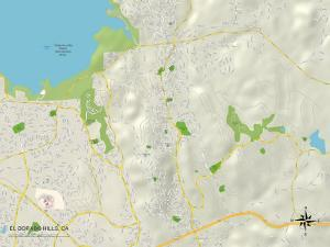 Political Map of El Dorado Hills, CA