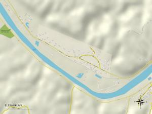 Political Map of Eleanor, WV