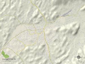 Political Map of Elizabethton, TN