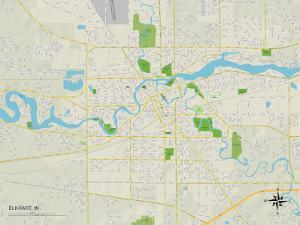 Political Map of Elkhart, IN