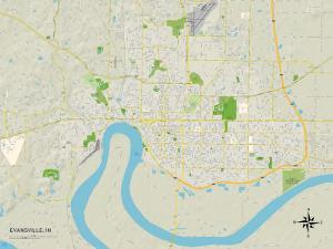 Political Map of Evansville, IN
