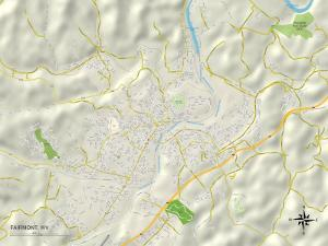 Political Map of Fairmont, WV