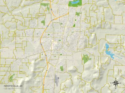 Maps Of Arkansas Posters At AllPosterscom - Political map of arkansas
