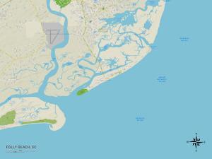 Political Map of Folly Beach, SC