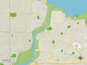 Political Map of Folsom, CA