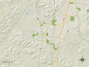 Political Map of Franklin, TN