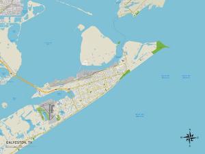 Political Map of Galveston, TX