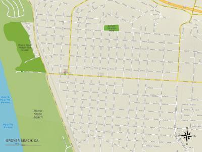 Political Map of Grover Beach, CA