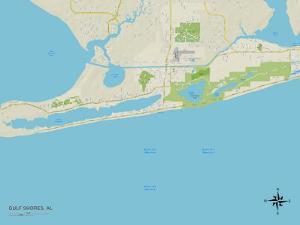 Political Map of Gulf Shores, AL