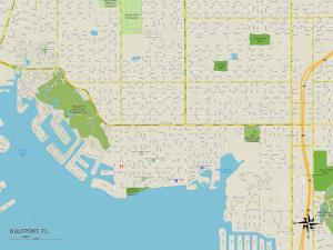 Political Map of Gulfport, FL