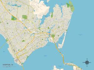 Political Map of Hampton, VA