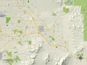 Political Map of Henderson, NV