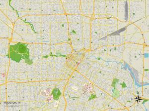 Political Map of Houston, TX